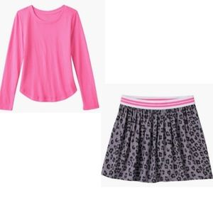 So Pink Tee and Leopard Print Skirt size 16